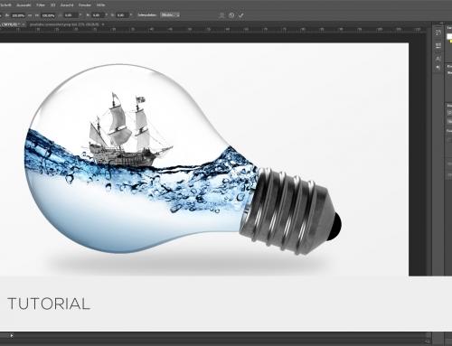 ▶ Photoshop Tutorial – Wasser in einer Glühbirne | Folge 01